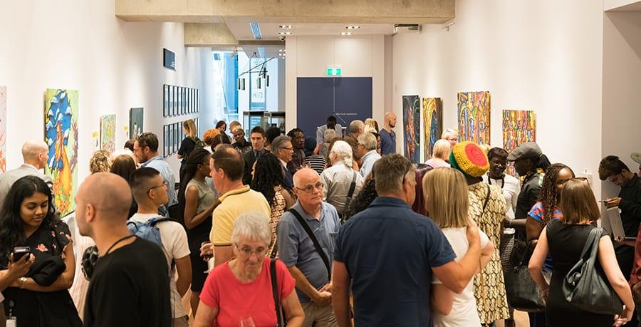 Crowd at SANAA Exhibition 2018