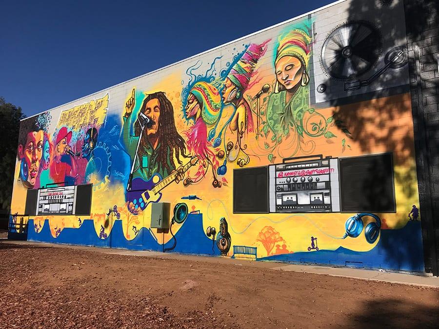 Elizabeth finished mural Sanaa street art