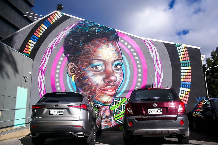 Grote Street art Sanna Adelaide