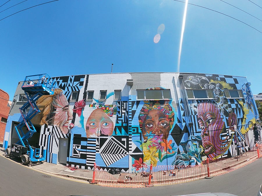 SANAA street art, Percy Court, Adelaide