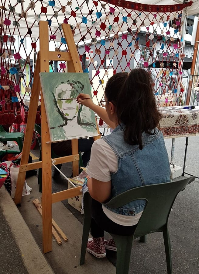 Artist at work Sanaa Festival 2018