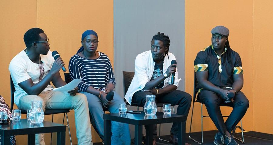 Onyis Martin at Artist Talk, SANAA Exhibition 2018