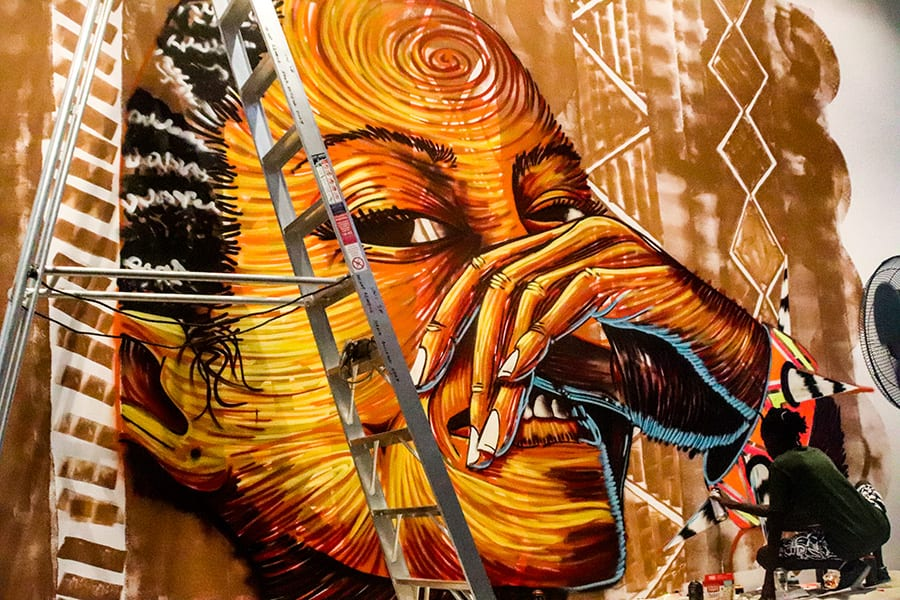 Thufu B Painting Mural in gallery