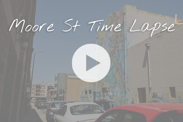 Sanaa Street Art - Moore Street time lapse video