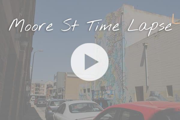 Sanaa Street Art - Moore Street time lapse video