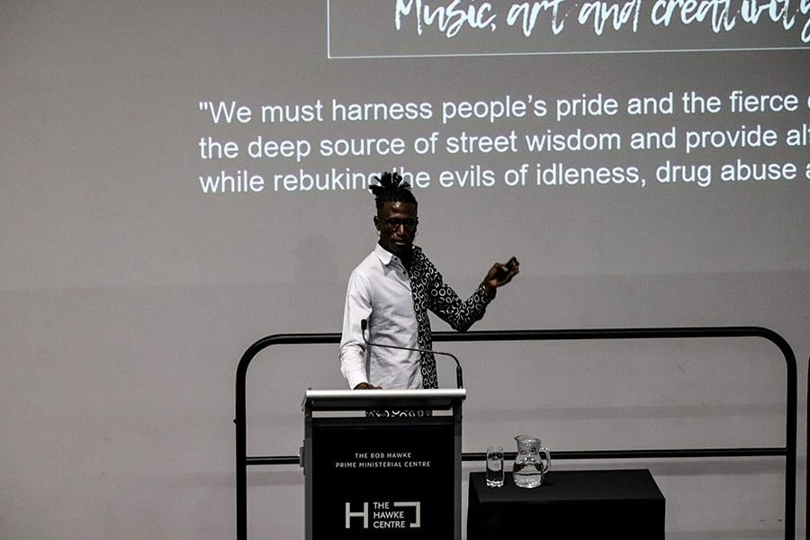 Sanaa artist Octopizzo lecture: My Journey