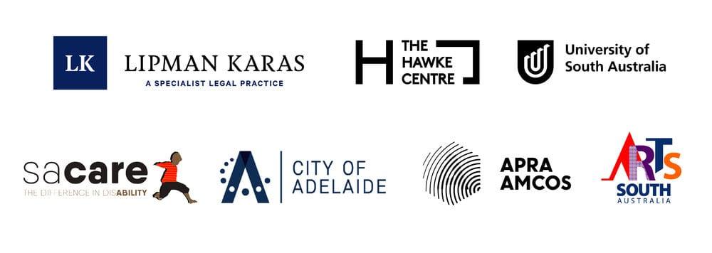 SANAA Sponsors: City of Adelaide, SACare, Hawke Centre, UniSA, Apra Amcos, ArtsSA, Lipman Karas