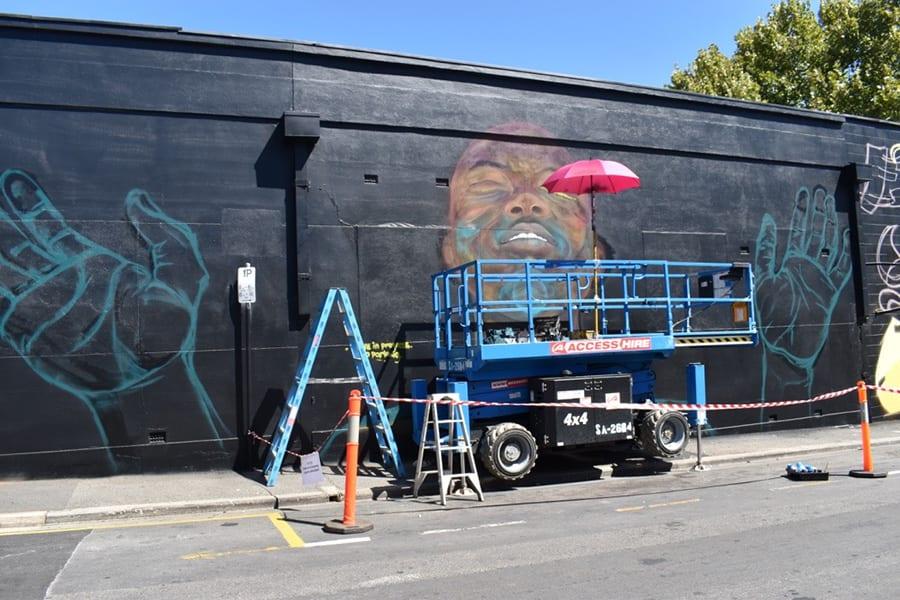 Work in progress - Register street mural