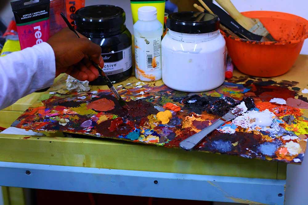 Wamala painting, Sanaa Artist Residency 2020