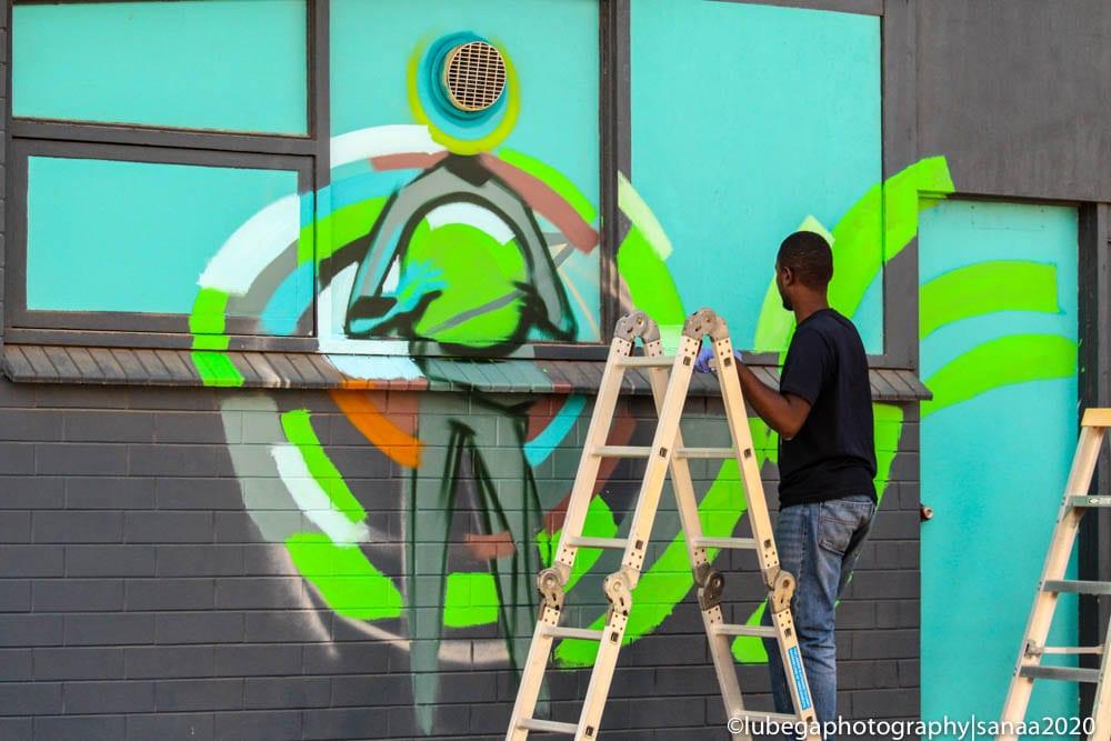 Viktart Mwangi Port Augusta mural, Sanaa Regional Tour 2020