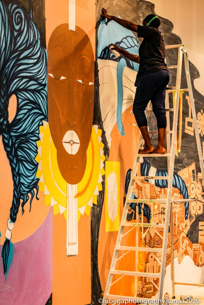 Chela Kenya mural, 2020 Sanaa Exhibition