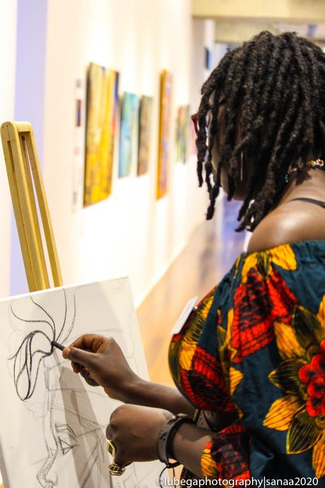 Chela live artwork, 2020 Sanaa Exhibition