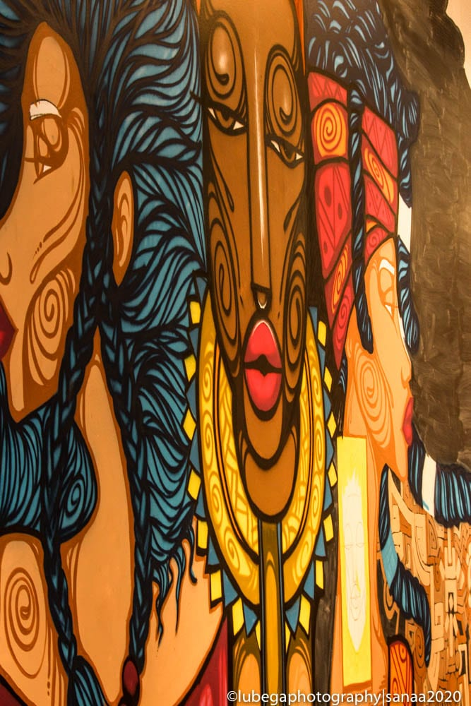 Chela mural, Hawke Centre, 2020 Sanaa Exhibition