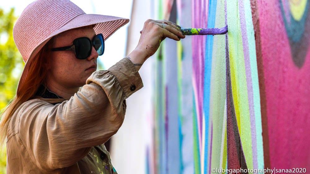 Jasmine Crisp, Sanaa Street Art 2020