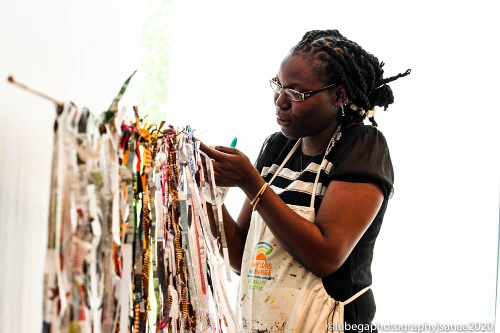 Mulenga Zambia art installation, 2020 Sanaa Exhibition