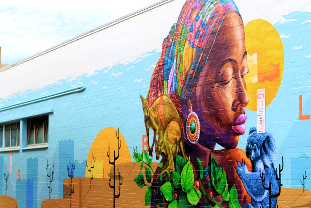 Moh Awudu and Jake Holmes, Sanaa Street Art 2020