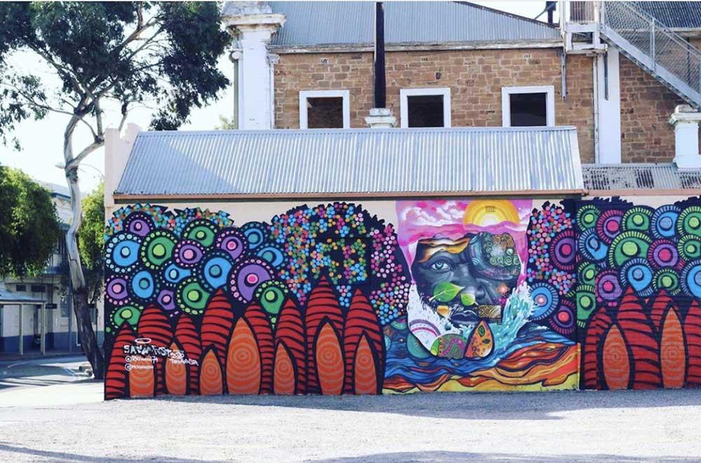 Port Augusta mural, Sanaa Regional Tour 2020