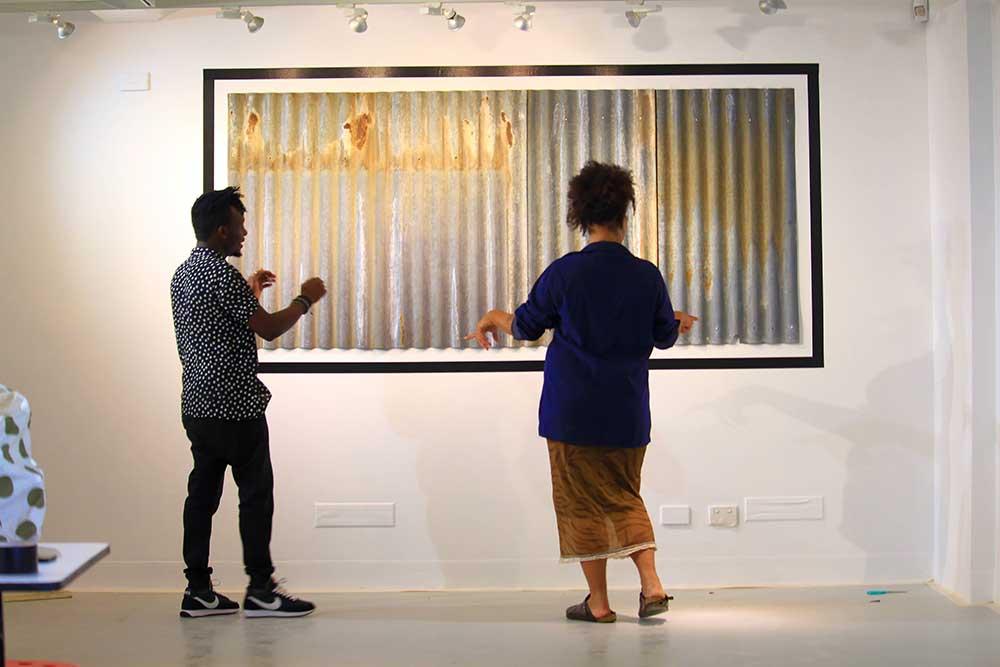 Artists Wamala and Tailor, Sanaa Artist Residency 2020