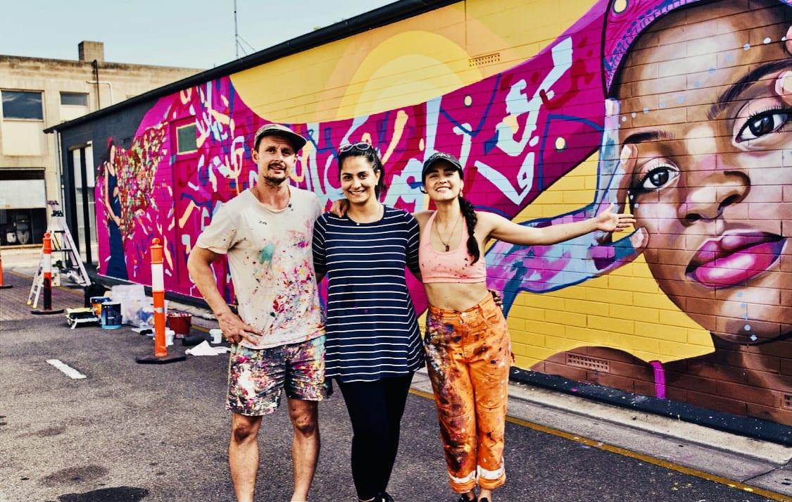 Artists Arlon Hall, Marjan Afrouzfar and Katherine Gailer