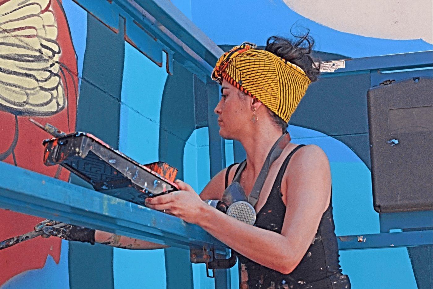 SANAA Artist Katherine Gailer Whyalla mural