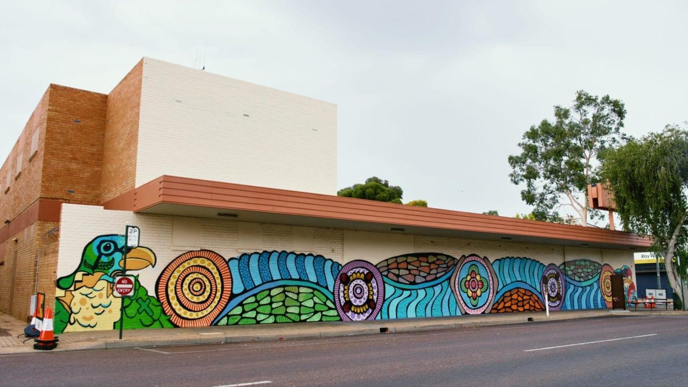 Scott Rathman and Ashton Filmer finished mural, Port Augusta